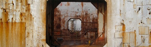 Opening in drydock wall